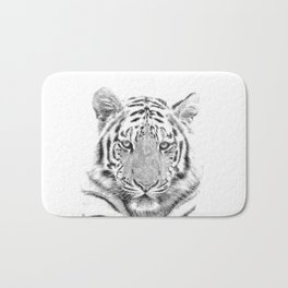 Black and white tiger Bath Mat
