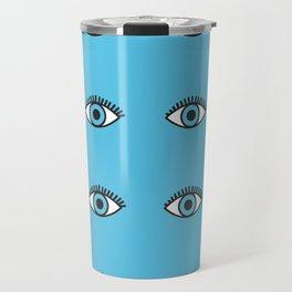 Blue Evil Eyes Travel Mug