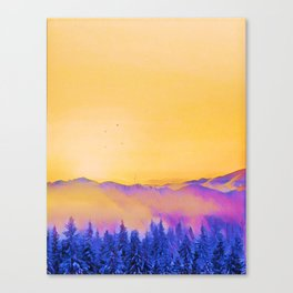 soft morning in the forest Canvas Print