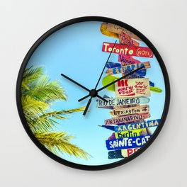 Summer Destinations Wall Clock