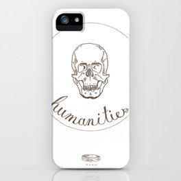 humanities skull iPhone Case