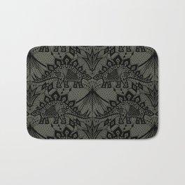 Stegosaurus Lace - Black / Grey Bath Mat