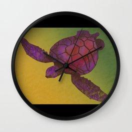 Sea Turtle (warm) Wall Clock