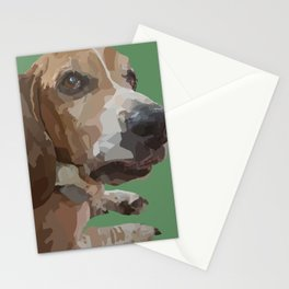 George the Basset Hound Stationery Cards