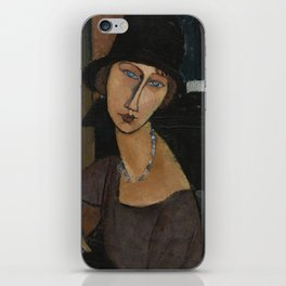 Modigliani - Jeanne Hebuterne With Hat And Necklace iPhone Skin