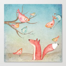 Gabriel's tales: Fox and the birds Canvas Print