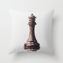 queen low poly Throw Pillow