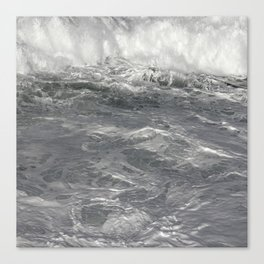 Roiling in Almost Black and White Canvas Print