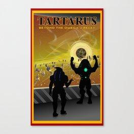 Mass Effect Tartarus Travel Poster Canvas Print