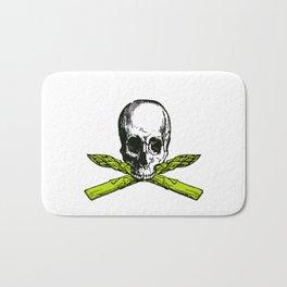 skull asparagus Bath Mat