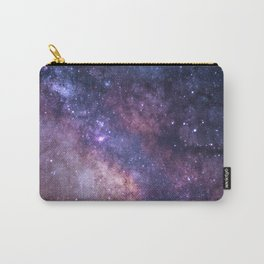 Purple Galaxy Star Travel Carry-All Pouch