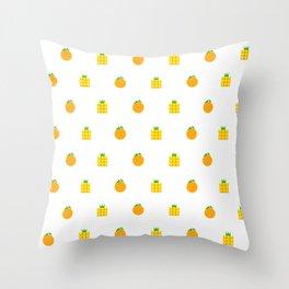 Ji Li Ong Lai / Orange & Pineapple Throw Pillow