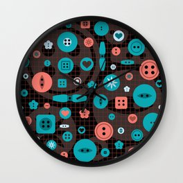 button it Wall Clock