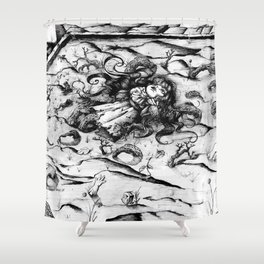 Sterile doll Shower Curtain