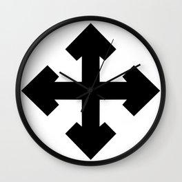 Pointed Krückenkreuz Crutch Cross Martial Heathen symbols Wall Clock