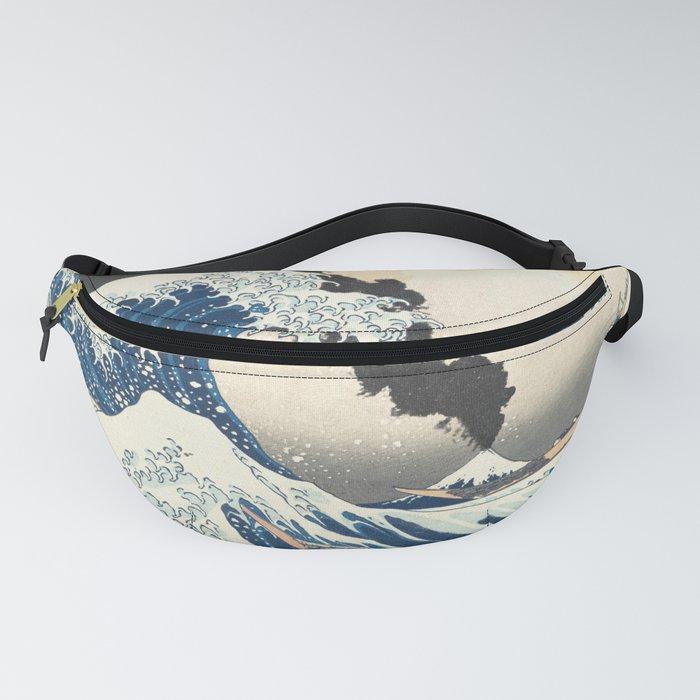Great Wave off Kanagawa Mount Fuji Eruption Katsushika Hokusai Fanny Pack