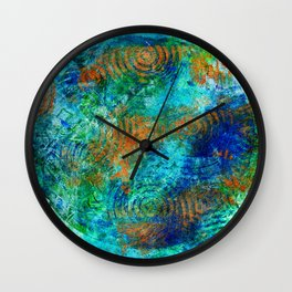 Copper beneath the waves Wall Clock