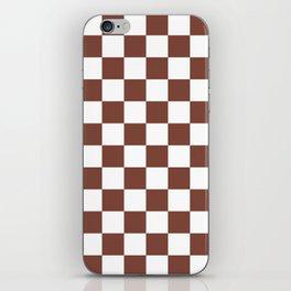 Checkered (Brown & White Pattern) iPhone Skin