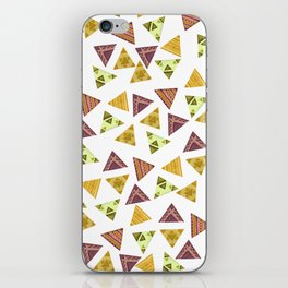 Brown yellow autumn colors hand painted tribal triangles iPhone Skin