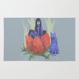 fairy and kitten Rug