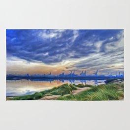 Marina Sunrise (Digital Art) Rug