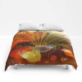 Tropical plants and flowers Comforters