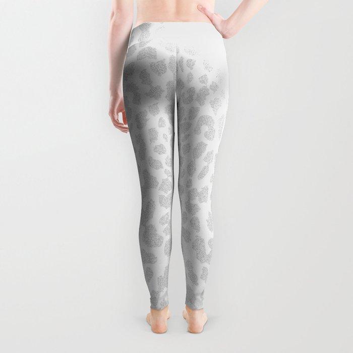 Pale Gray Leopard Leggings
