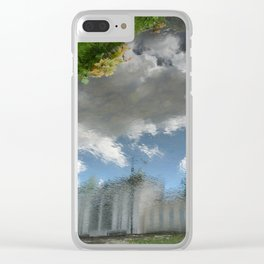 Dublin Grand Canal Reflections Clear iPhone Case
