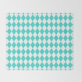 Diamonds (Turquoise/White) Throw Blanket