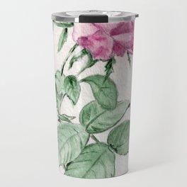 Rosa Centifolia Foliacea Travel Mug