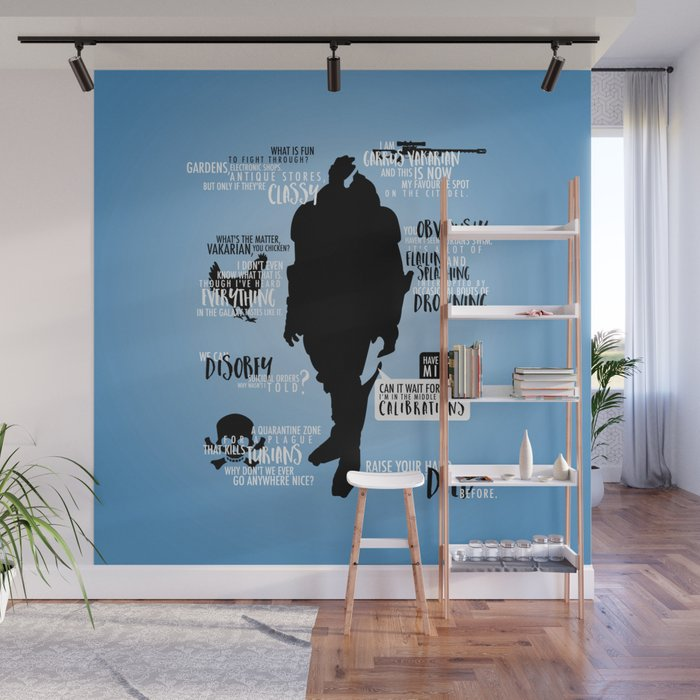 Mass Effect - Garrus Quotes Wall Mural by firlachiel | Society6