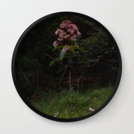 Lone Flower in the Country Wall Clock