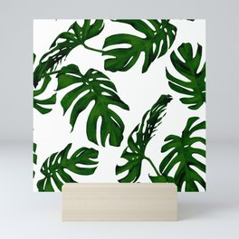Simply Tropical Palm Leaves in Jungle Green Mini Art Print