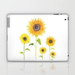 Sunflowers Watercolor Painting Laptop & iPad Skin