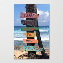 Beach Signs Canvas Print