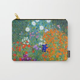 Gustav Klimt Flower Garden Carry-All Pouch