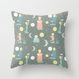 Everybody...off to bed - Childrens book illustration/Pattern Throw Pillow