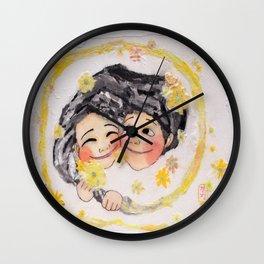 The Chrysanthemum Tea Wall Clock