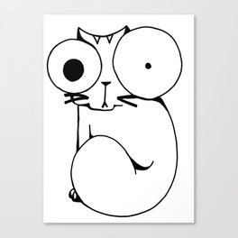 Psycho Cat Canvas Print