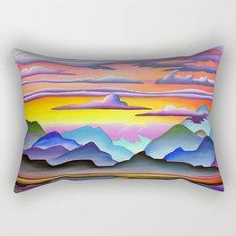 Colorful Coast Sunset Rectangular Pillow