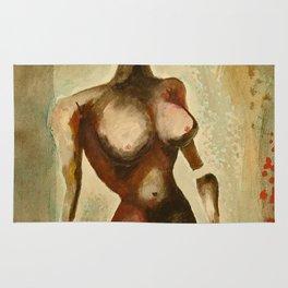 Eves 1, Nude surrealist female figure, NYC Artist Rug