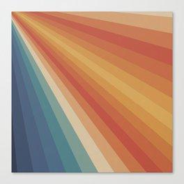 Retro 70s Sunrays Canvas Print