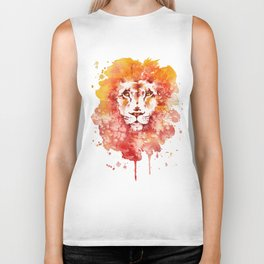 PRIDE (Water colour Lion) Biker Tank