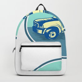 Tipper Pick-up Truck Oval Woodcut Backpack