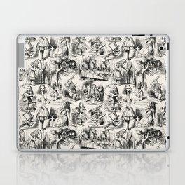 Alice in Wonderland | Toile de Jouy | Black and Beige Laptop & iPad Skin