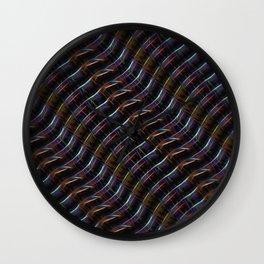 Blazing Neon Worm Line Dance II Wall Clock