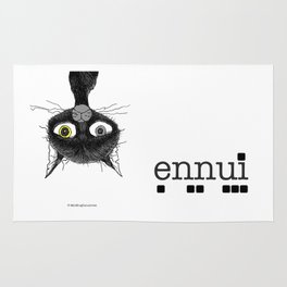 Ennui is one complicated emotion of a cat! Rug