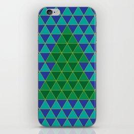 Christmas tree triangles iPhone Skin