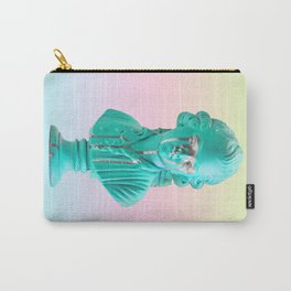 Bust of a Weeping Man (In Ice Blue Gradient) Carry-All Pouch