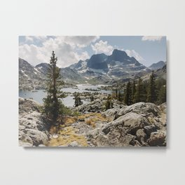 Partly Cloudy Afternoon in the Eastern Sierra Metal Print